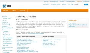 AT&T 접근성 관련 사이트