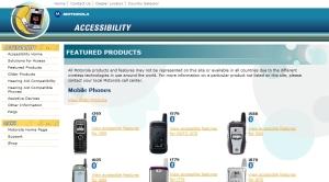 모토롤라의 접근성 기능 제공 휴대폰