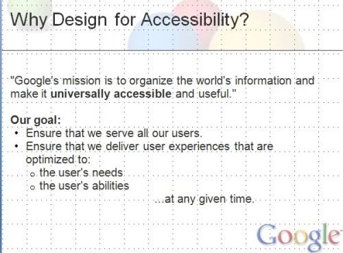 구글의 접근성 의미