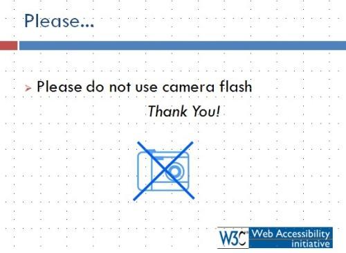 카메라 플래시 사용 자제 협조 장표