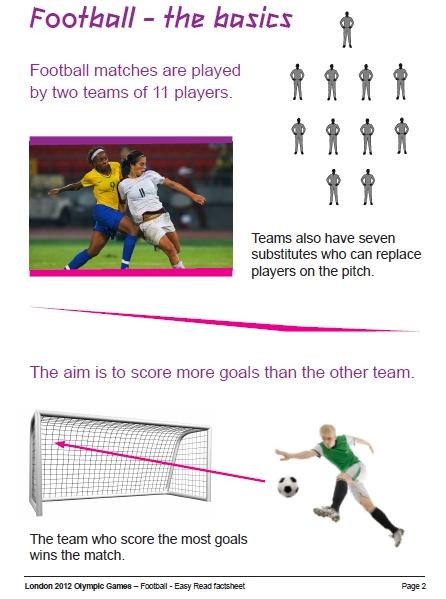 지적 및 학습 장애인을 위한 축구 설명자료 사례
